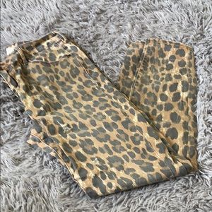 Leopard Pacsun mid rise skinniest jeans